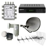 Antennen Anschlußdosen, Stecker, Multischalter,...