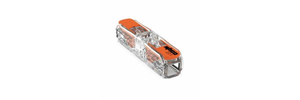 Wago 221-2411 Durchgangsverbinder - Wago 221-2411 Durchgangsverbinder mit Hebel max. 4mm² 2-Leiter