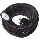 Verlängerung SCHUKO PSVL315-2 schwarz 2m