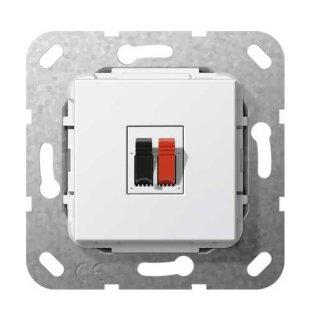 Gira 569203 Lautsprecheranschluss 1f Einsatz Reinweiß