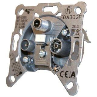 Triax SAT/CATV Kombi-Antennendose EDA 302 F
