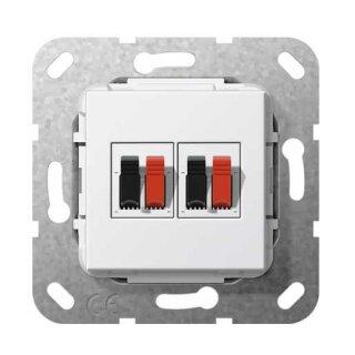 Gira 569303 Lautsprecheranschluss 2f Einsatz Reinweiß