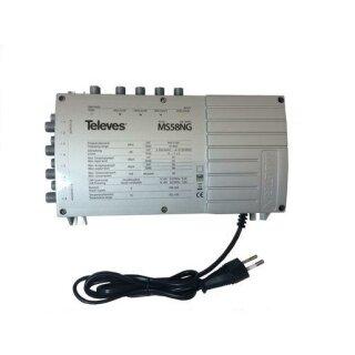 Televes 5 in 8 Guss-Multischalter MULTRIX mit Schaltnetzteil