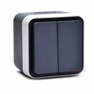 Berker 30753505 Serienschalter AP W.1 grau