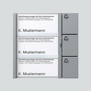 Siedle Bus-Tasten-Modul BTM 650-03 SM Silber-Metallic