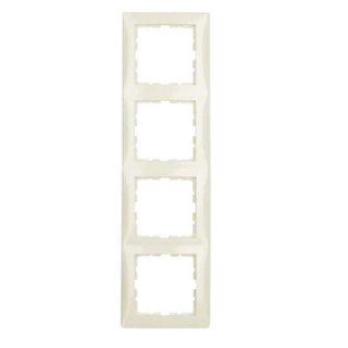 Berker 10148982 Rahmen 4fach S.1 weiß, glänzend