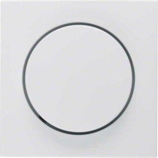 Berker 11378989 Zentralstück mit Regulierknopf f. Drehdimmer S.1 polarweiß, glänzend