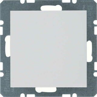 Berker 10098989 Blindverschluss mit Zentralstück S.1 polarweiß, glänzend