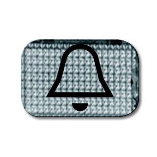 """Busch-Jaeger 2145 KI Tastersymbol transparent """"Klingel"""" glasklar"""