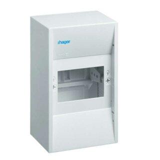 Hager Miniverteiler gamma 4PLE IP30 1xPE 1xN