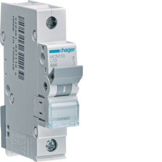 Hager MCN110 Leitungsschutzschalter 1polig 6kA C10A 1M