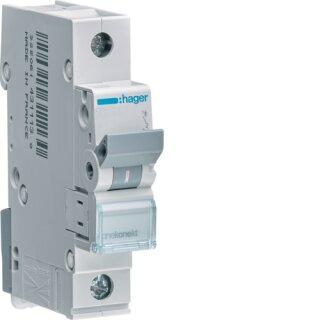 Hager MCN125 Leitungsschutzschalter 1polig 6kA C25A 1M