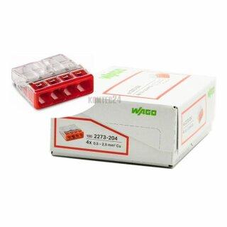 Wago 2273-204 Compact-Dosenklemme 4x 0,5-2,5mm² rot 100Stück