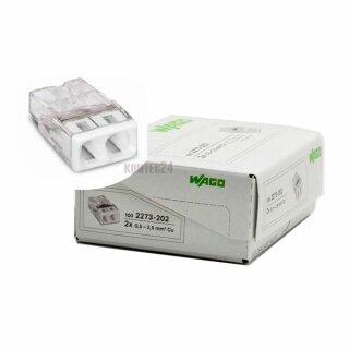 Wago 2273-202 Compact-Dosenklemme 2x0,5-2,5mm² weiß 100Stück