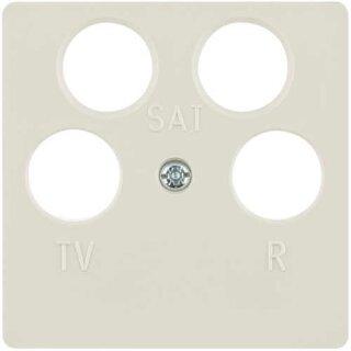 glänzend Berker 148409 Zentralplatte für Antennendose 4Loch polarweiß