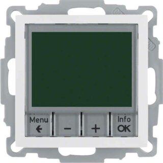 Berker 20448989 Temp.-Regler, Schließer, mit Z.-Stk., zeitgesteuert S.1 polarweiß, glänzend