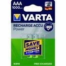 Varta Rechargeable Accu Power R2U AAA Micro 1000mAh (2er Blister)