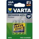 Varta Rechargeable Accu Power R2U AAA Micro 800 mAh (4er Blister)