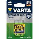 Varta Recharge Accu Power 2600mAh AA Mignon (2er Blister)