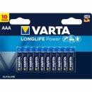 Varta Batterie Longlife Power AAA LR03 Micro (10er Blister)