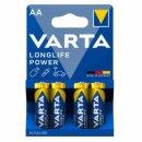 Varta Batterie Longlife Power AA LR6 Mignon (4er Blister)