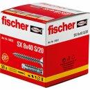fischer 070022 Spreizdübel SX 8x40S/20 mit Schraube...