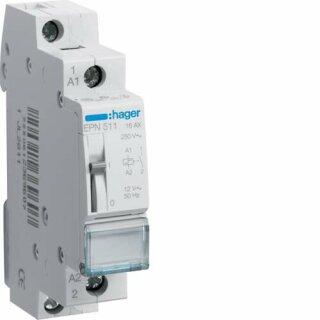 Hager Fernschalter 1S 12V AC 16A