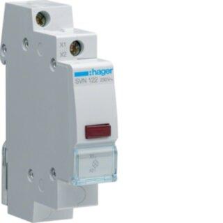 Hager LED Leuchtmelder rot 230V AC 1PLE