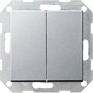 Gira 012526 Tastschalter Serienschalter System 55 Farbe Alu