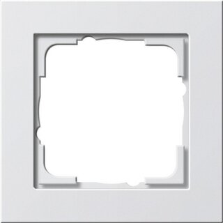Gira 021122 Abdeckrahmen 1f Gira E2 Reinweiß matt