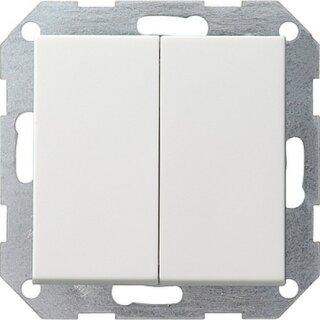 Gira 012527 Tastschalter Serienschalter System 55 Reinweiß matt