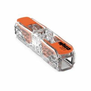 Wago 221-2411 Durchgangsverbinder mit Hebel max. 4mm² 2-Leiter