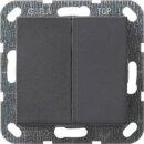 Gira 012528 Tastschalter Serienschalter System 55 Anthrazit