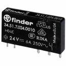 Finder 34.51.7.024.0010 Steck-/Printrelais 24VDC 1Wechsler