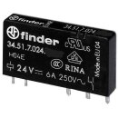Finder 34.51.7.024.4010 Steck-/Printrelais 24VDC 1Wechsler