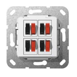 Gira 569403 Lautsprecheranschluss 4f Einsatz Reinweiß