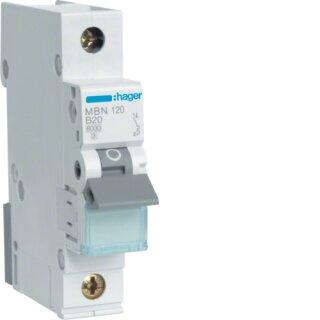 Hager MBN120 Leitungsschutzschalter 1polig 6kA B20A 1M
