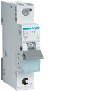 Hager MBS113 Leitungsschutzschalter 1polig 6kA B13A Quick Connect