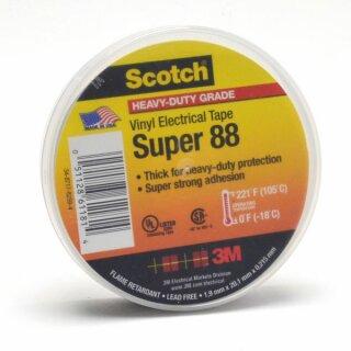 3M Scotch Super 88 Vinyl Elektro-Isolierband Schwarz 19mm x 20m