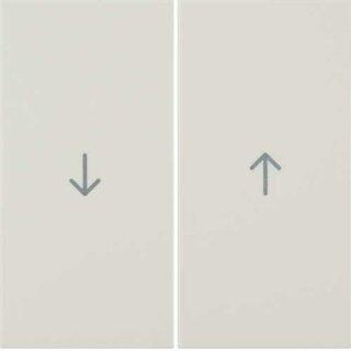 Berker 16258982 Wippen mit Aufdruck Symbol Pfeil S.1 weiß, glänzend