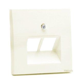 Berker 14098982 Zentralstück f. UAE Steckdose 2fach S.1 weiß, glänzend
