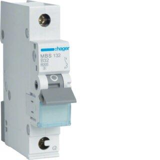 Hager MBS132 Leitungsschutzschalter 1polig 6kA B32A QuickConnect