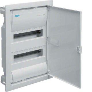 Hager Volta Unterputzverteiler IP30 mit Tür 24 Platzeinheiten VU24NC