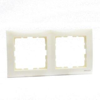 Berker 10128982 Rahmen 2fach S.1 weiß, glänzend