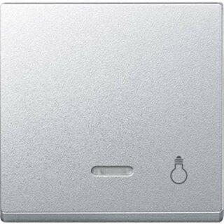 Merten Wippe m. Kontrollfenster und Aufdruck Licht aluminium System M 430960