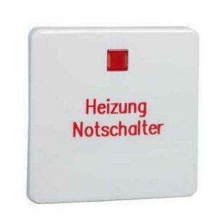 Elso Wippe 2pol. bedruckt Heizung Kennzeichnung erhaben FASHION/RIVA/SCALA reinweiß