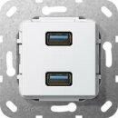 Gira 568503 USB 3.0 A 2f K-Peitsche Einsatz Reinweiß