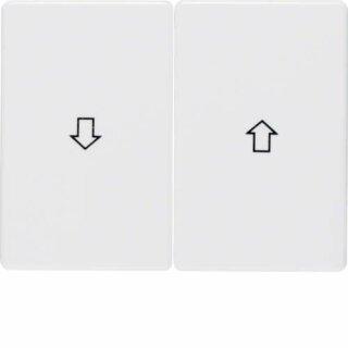 Berker 14350169 Wippen mit Aufdruck Symbol Pfeil Arsys polarweiß, glänzend