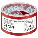 Kaiser Geräteschrauben-Box, je 100 Schrauben (2472-91)